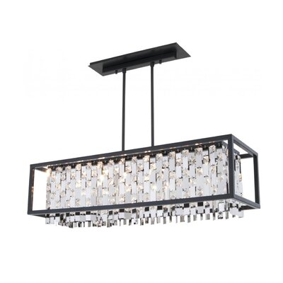 Herkimer 6-Light Kitchen Island Pendant Shade Color: Chrome