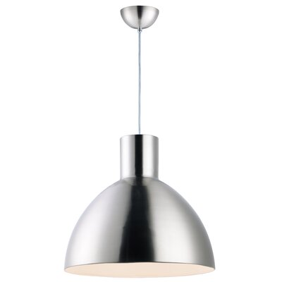 Claus 1-Light Inverted Pendant Finish: Satin Nickel