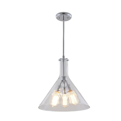Engelhardt 3-Light Geometric Pendant Color: Buffed Nickel