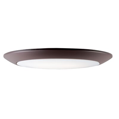 Klinger 1-Light LED Flush Mount Fixture Finish: Bronze