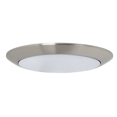 Klinger 1-Light LED Flush Mount Fixture Finish: Satin Nickel