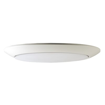 Klinger 1-Light LED Flush Mount Fixture Finish: White