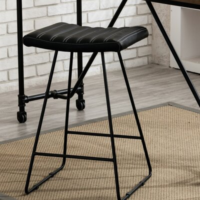 Gunning 25 Bar Stool Color: Black