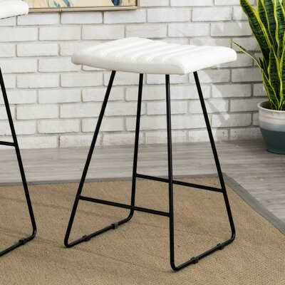 Gunning 25 Bar Stool Color: White