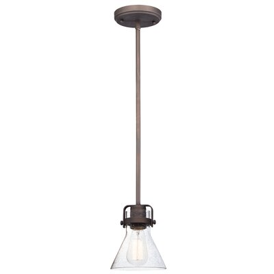 Haefner 1-Light Mini Pendant Finish: Oil Rubbed Bronze