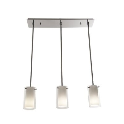 Matthies Adjustable Canopy 3-Light Kitchen Island Pendant Finish: Buffed Nickel