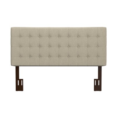 Kenny California King Upholstered Panel Headboard Upholstery: Barley Tan