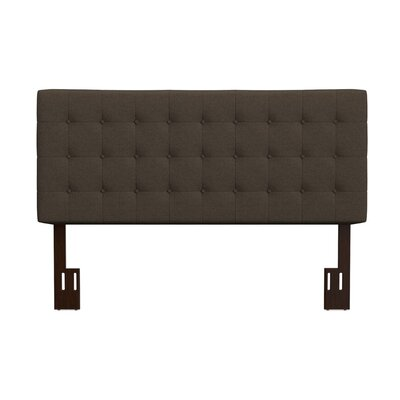 Kenny California King Upholstered Panel Headboard Upholstery: Brown