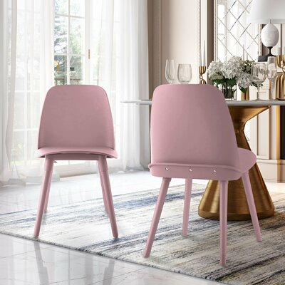 Fordham Dining Chair Color: Pink