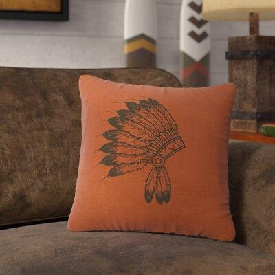 Naccarato Headdress Throw Pillow Color: Paprika