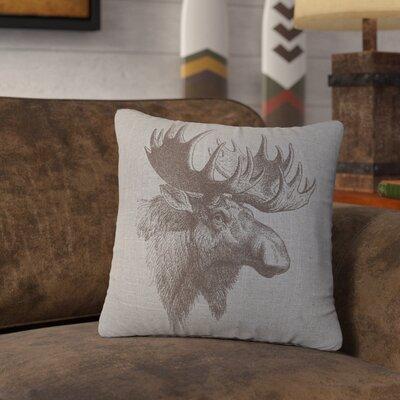 Nakagawa Moose Profile Throw Pillow Color: Gray
