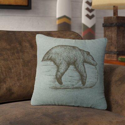 Nailwell Bear On A Log Throw Pillow Color: Ocean