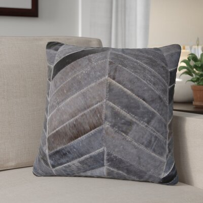 Graham Leather Throw Pillow Color: Chocolate