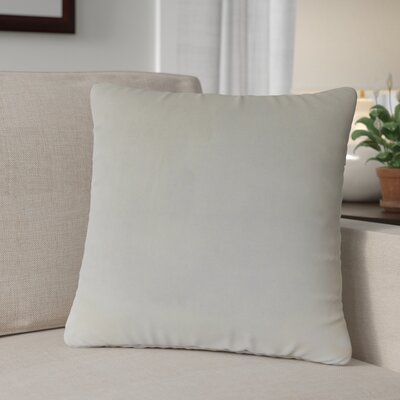 Theriault Solid Cotton Throw Pillow Color: Pearl