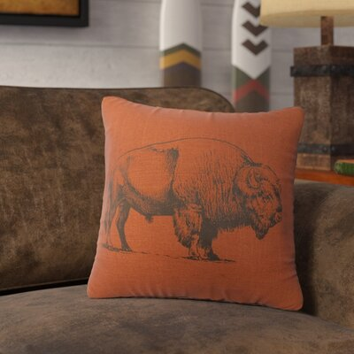 Lanphear Buffalo Throw Pillow Color: Paprika