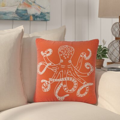 Granville Octopus 100% Cotton Throw Pillow