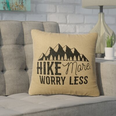 Barroso Hike More Throw Pillow Color: Straw
