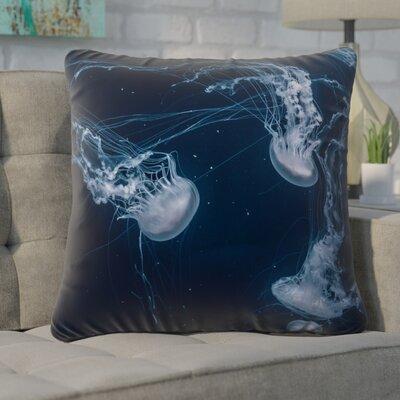 Nathaniel Blue Jellyfish Euro Pillow