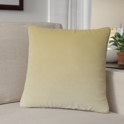 Theriault Solid Cotton Throw Pillow Color: Sand