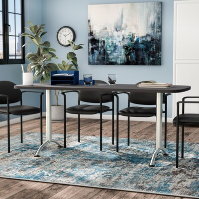 Curved End Conference Table Finish: Graphite/Silver, Size: 6 L