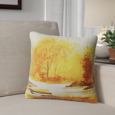 Paxtonville Stream Throw Pillow Size: 24 H x 24 W x 6 D