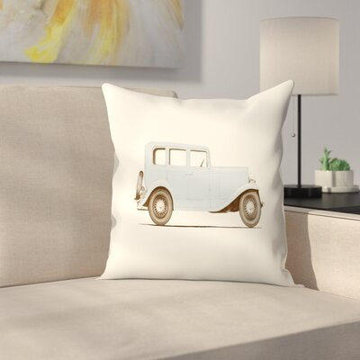 Florent Bodart Car 30 Throw Pillow Size: 14 x 14