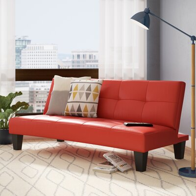 Chavez Convertible Sleeper Sofa Upholstery: Red / Black