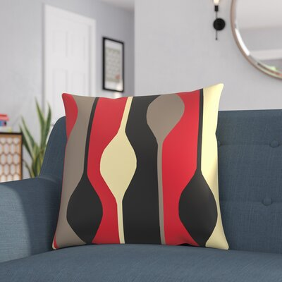 Wakefield Throw Pillow Size: 20 H x 20 W x 4 D, Color: Red