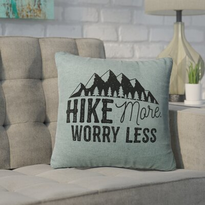Barroso Hike More Throw Pillow Color: Ocean