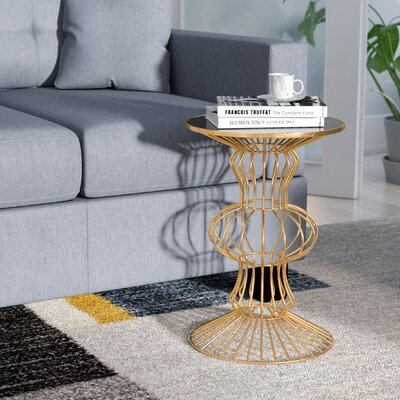 Haymarket Iron Wire End Table Color: Gold