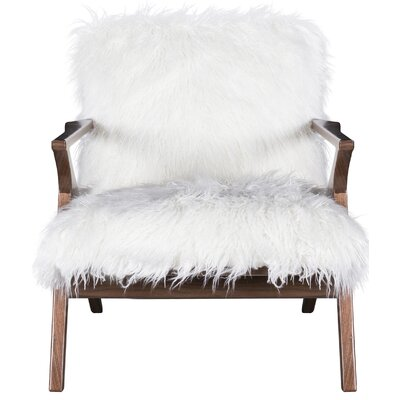 Currier Armchair Upholstery: Ivory