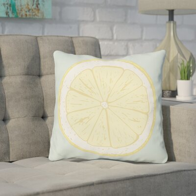 Harshbarger Lemon Slice Throw Pillow Size: 18 x 18
