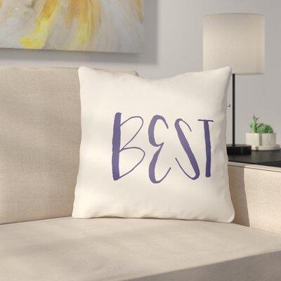 Indoor/Outdoor Throw Pillow Size: 20 H x 20 W x 4 D, Color: Dark Blue