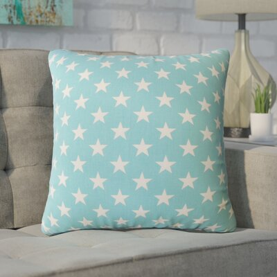 Wexler Geometric Down Filled 100% Cotton Throw Pillow Size: 18 x 18, Color: Blue