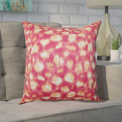 Kibby Cotton Throw Pillow Color: Azalea, Size: 18x18