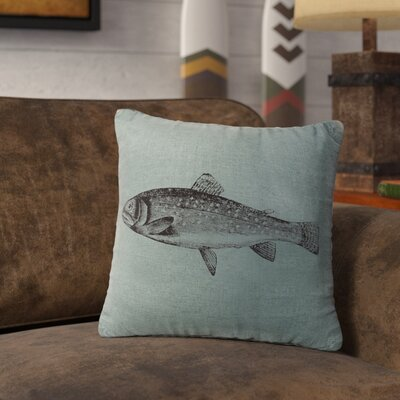 Nagel Trout Throw Pillow Color: Ocean