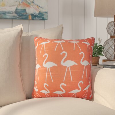Brylee Animal Print Cotton Throw Pillow Color: Salmon, Size: 18 x 18