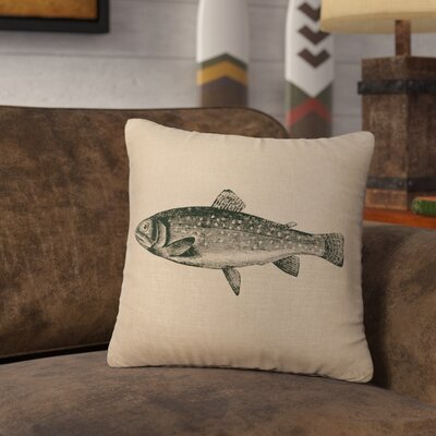 Nagel Trout Throw Pillow Color: Natural