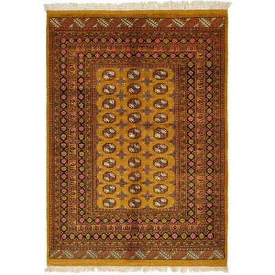One-of-a-Kind Batchelder Hand-Knotted Wool Gold Area Rug