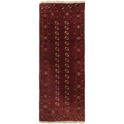 One-of-a-Kind Batchelder Hand-Knotted Wool Burgundy Area Rug