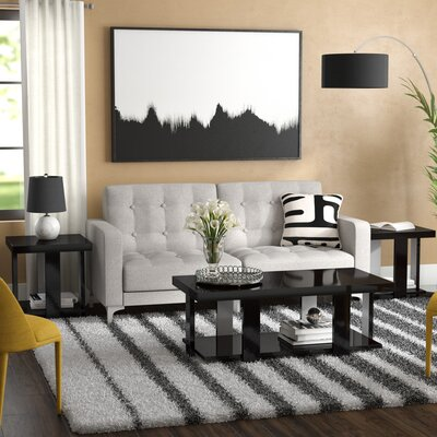 Dunlevy 3 Piece Coffee Table Set Color: Black