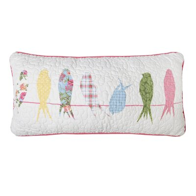 Holler Bird Cotton Lumbar Pillow