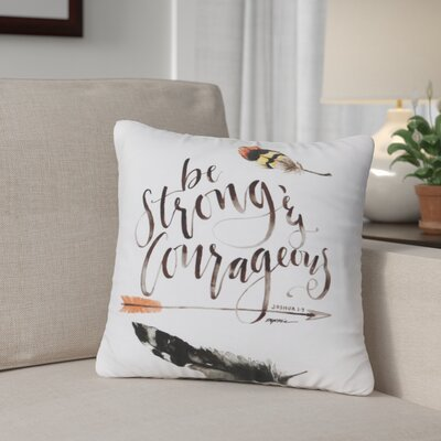 Gracey Be Strong Throw Pillow