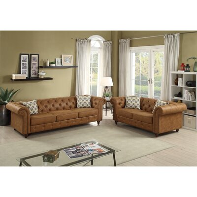 Fawley 2 Piece Living Room Set Upholstery: Camel