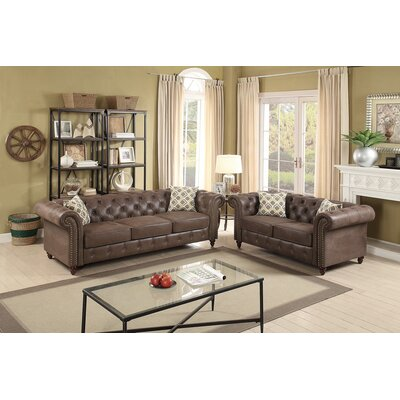 Fawley 2 Piece Living Room Set Upholstery: Dark Coffee