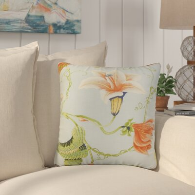 Conesville Floral Throw Pillow Cover Color: Light Blue