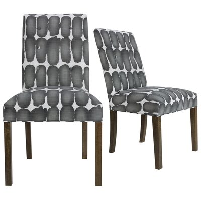 Lozano Upholstered Dining Chair Upholstery Color: Black/White