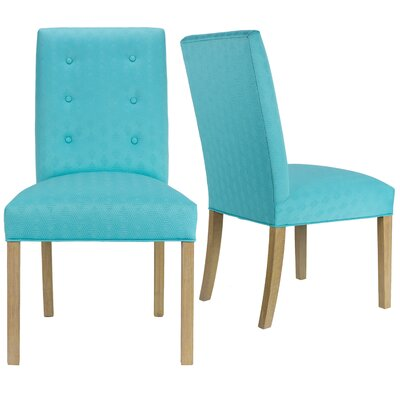 Lozano Upholstered Dining Chair Upholstery Color: Blue