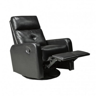 Candace and Basil Manual Rocker Recliner Color: Black