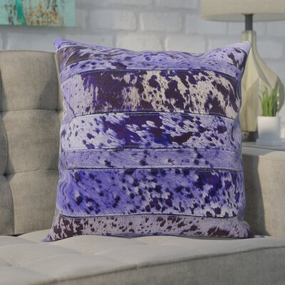 Bergan Leather Throw Pillow Color: Purple